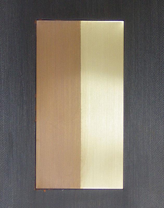 硫化いぶし仕上げの施された銅合金板