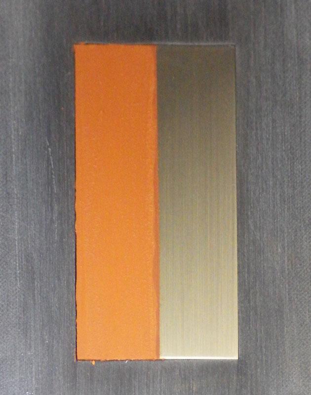 塗布後の銅合金板